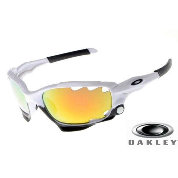 554c730f7892 Replica Oakley Racing Jacket Sunglasses White Frame Yellow Vented ...