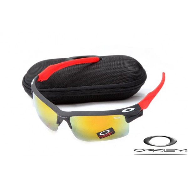 90dd6bbc9b Faux Oakley Fast Jacket Sunglasses Reluster Black Frame Fire Lens For Sale