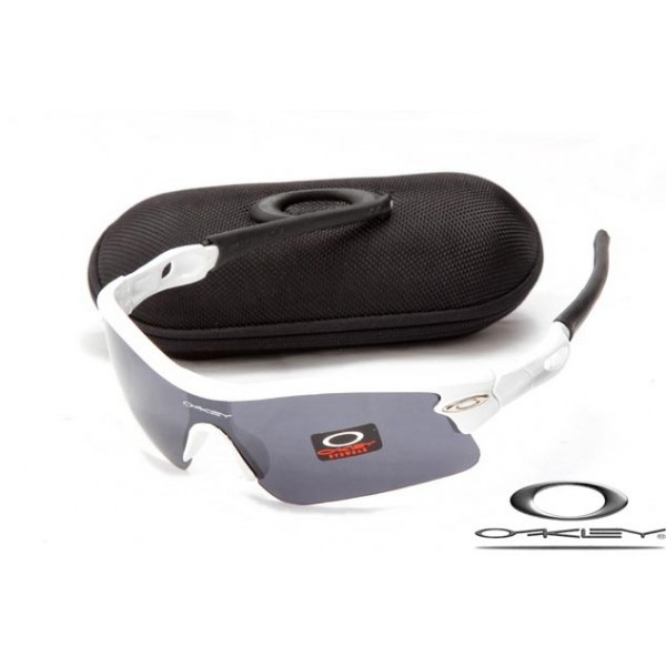 e5349ed0cc Cheap Fake Oakleys Radar Path Sunglasses White Frame Gray Lens For Sale