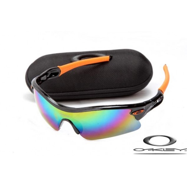 b34877f7d5 Cheap Fake Oakleys Radar Path Sunglasses Polishing Black Frame lColorful  Lens For Sale