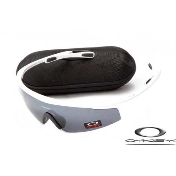 Cheap Imitation Oakley M2 Frame Sunglasses White Frame Gray Lens