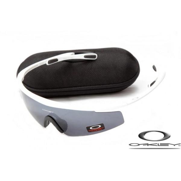 Cheap Imitation Oakley M2 Frame Sunglasses White Frame Gray Lens