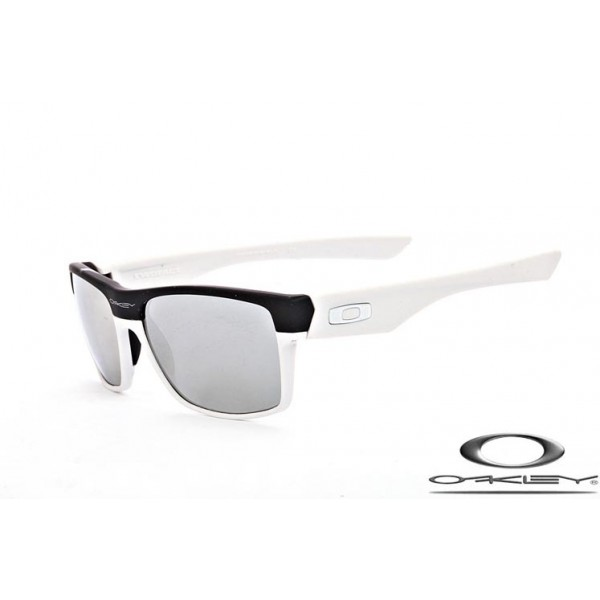 Cheap Imitation Oakley TwoFace Sunglasses Black White Frame Gray Silver  Iridium Lens