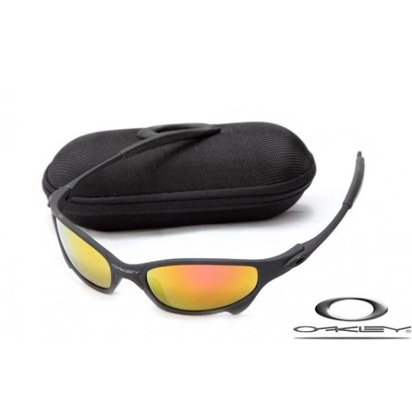98852169637a Cheap Replica Oakley Juliet Sunglasses Matte Black Frame Fire Yellow ...