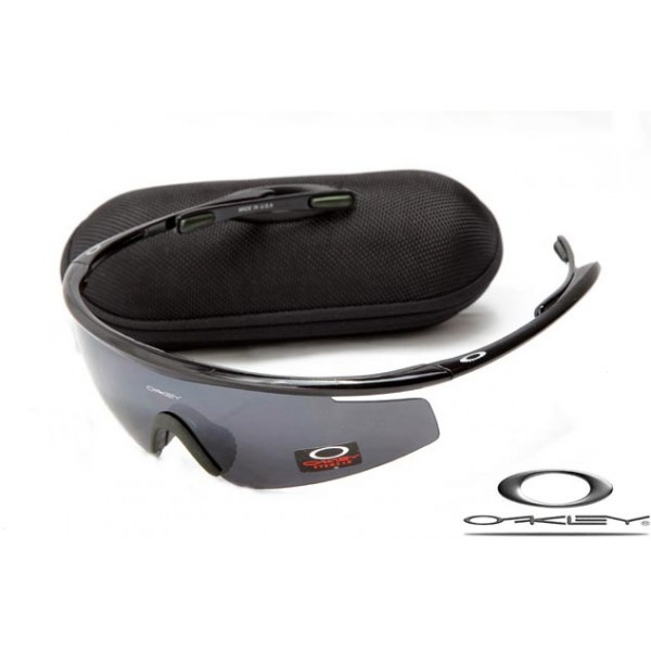 Fake Oakley M Frame Sunglasses Polishing Black Frame Gray Iridium ...