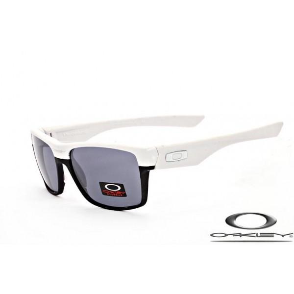 1d75889796 Fake Oakley TwoFace Sunglasses Polishing White Black Frame Gray ...