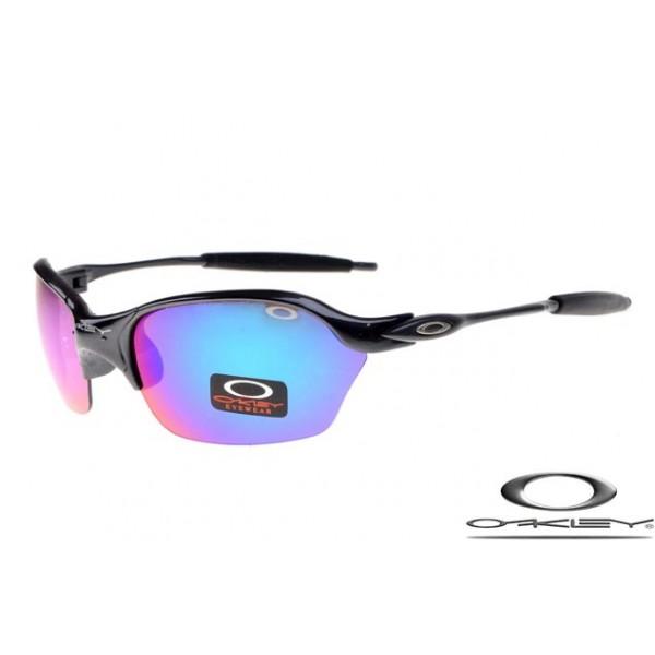 0c8c0c1311 Cheap FOakleys Half X Sunglasses Polishing Black Frame Blue Iridium ...