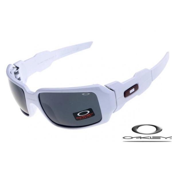 8c9a6201f9 Cheap FOakleys Oil Drum Sunglasses White Frame Gray Iridium Lens For ...