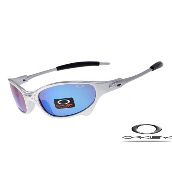 69e81ccb3 Cheap Imitation Oakley Juliet Men Sunglasses Silver Frame Blue Lens ...