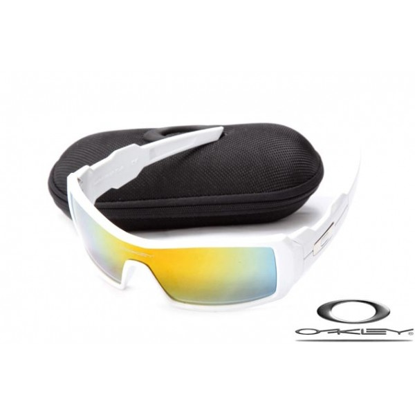 80a6c773ed Cheap Imitation Oakley Oil Drum Sunglasses White Frame Yellow Blue ...