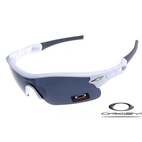 Cheap Imitation Oakley Radar Pitch Sunglasses White Frame Gray Lens ...