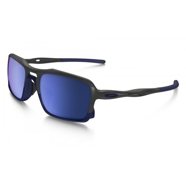 Oakley Triggerman Sonnenbrille Steel/Ice Iridium 7J3PHs5Qm