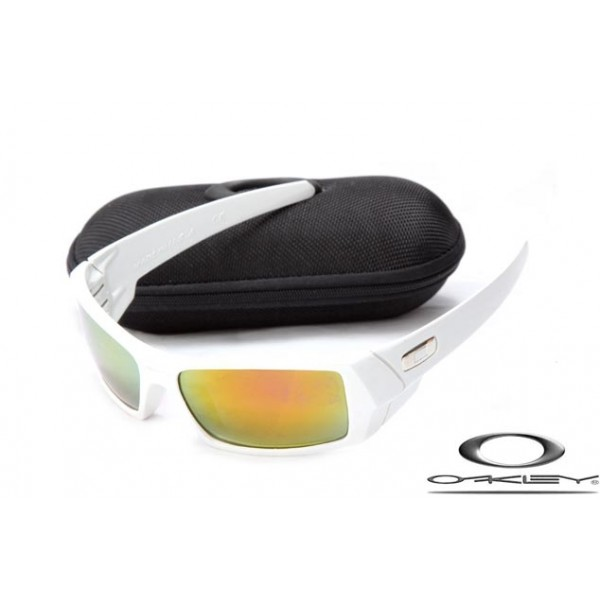 844dcec0cc42 Cheap Replica Oakley Gascan Sunglasses White Frame Fire Yellow ...