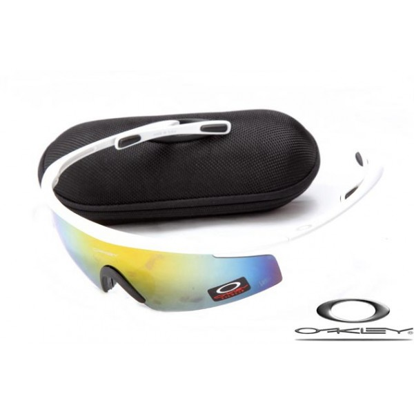 Cheap Replica Oakley M Frame Sunglasses White Frame Yellow Blue ...