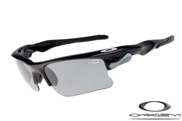 583f562320 Cheap Fake Oakley Fast Jacket Sunglasses Polishing Black Frame Gray Lens  For Sale