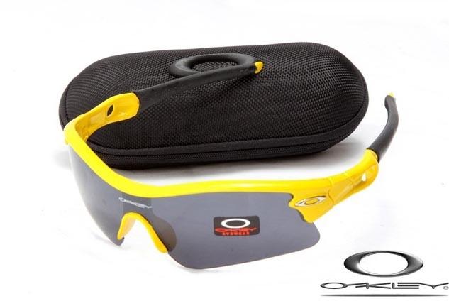 Faux Oakley Radar Path sunglasses Polishing Yellow Frame Black Iridium Lens