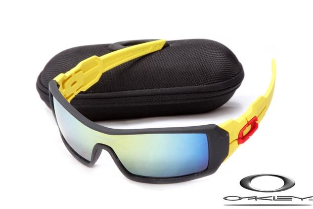 Cheap Imitation Oakley Oil Rig Sunglasses Yellow Black Frame blue Lens For  Sale - Fake Oakley Sunglasses