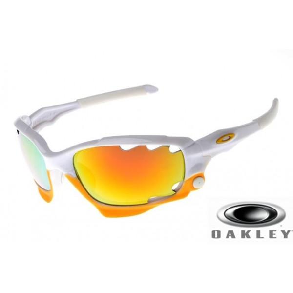 8a8dfdaa27d Fake Oakley Racing Jacket Sunglasses White Frame Lemony Vented Iridium Lens  OAKLEY201567235