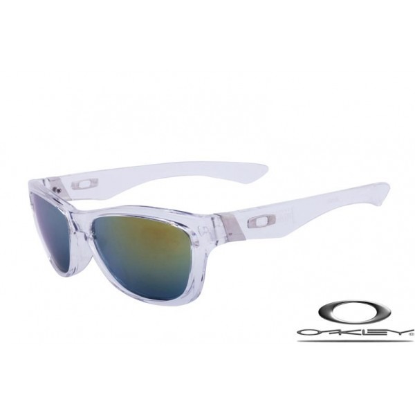 9179a57e045a Fake Oakley Jupiter Sunglasses Transparent Frame Gray Yellow Iridium Lens  For Sale - Cheap Fake Oakleys